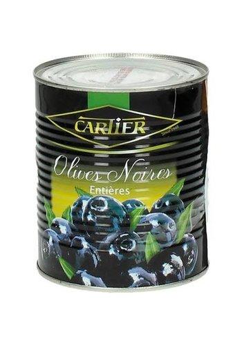 Cartier Schwarze Oliven mit Dosenkern - 400 Gramm