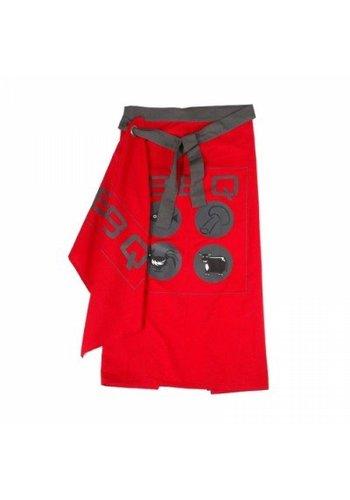 Kook Sloofset bbq 95x95 cm rood