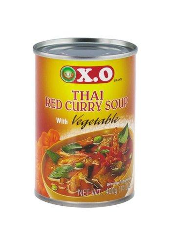 X.O Thaise rode kerrie & groente soep 400 gram