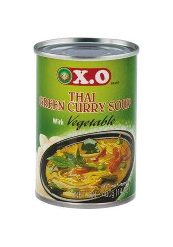 X.O Thaise groene kerrie & groente soep 400 gram