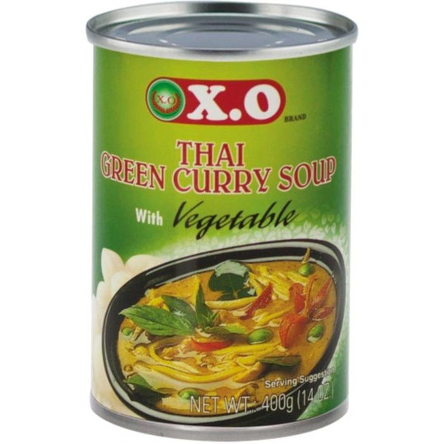 Thaise groene kerrie & groente soep 400 gram