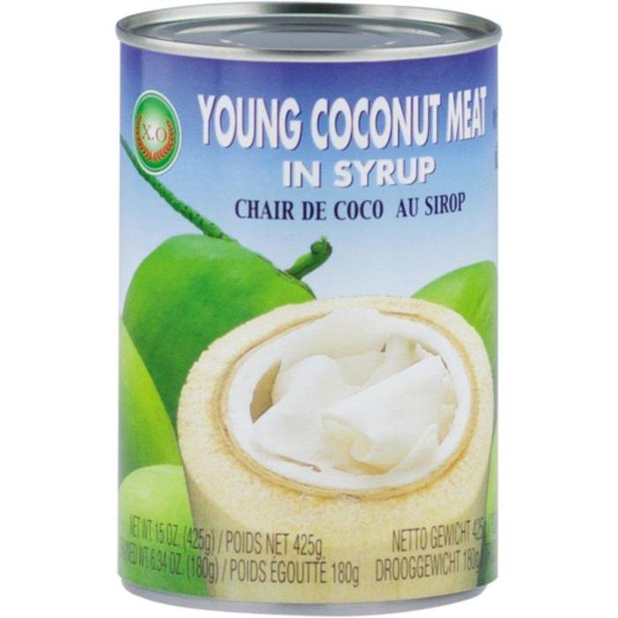 Junges Kokosnussfleisch in Sirup 425 Gramm