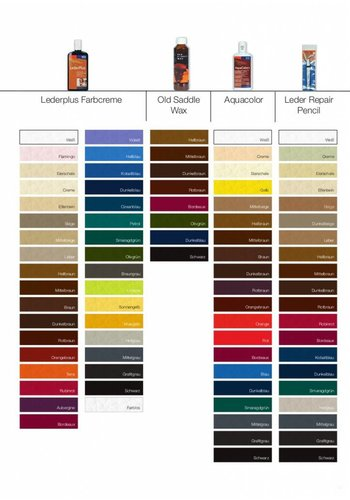 Oranje furniture care Lederkleurcrème in diverse kleuren 150 ml