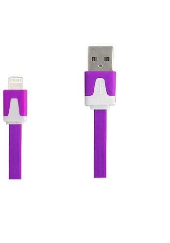 Neckermann Lightning naar USB kabel wit-paars 2 meter