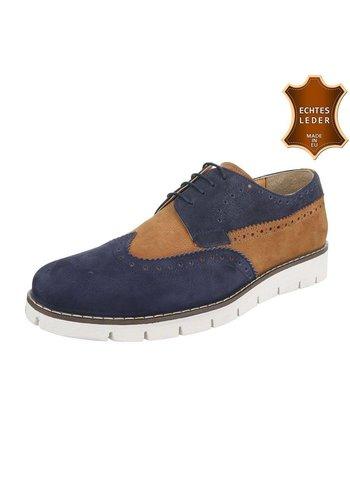 COOLWALK Leren casual schoenen van COOLWALK - navy /bruin