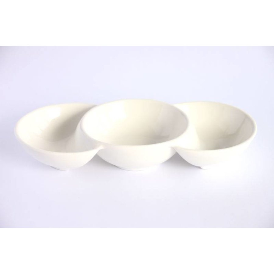 Snack Dish Party Time Porcelain