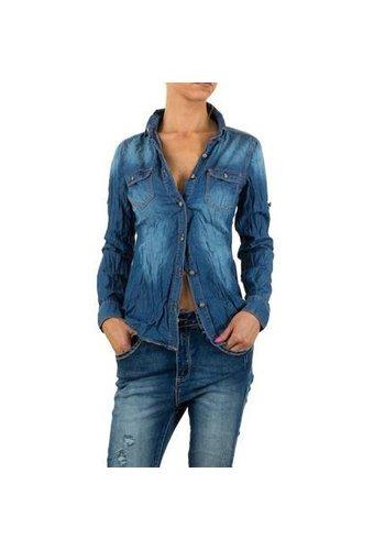Mozzaar Damen Bluse von Mozzaar - blue