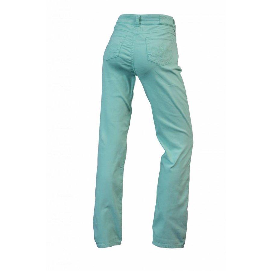 Dames broek regular fit met stretch  licht-groen