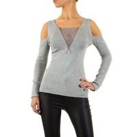 Damen Pullover von Moewy Gr. one size - grey