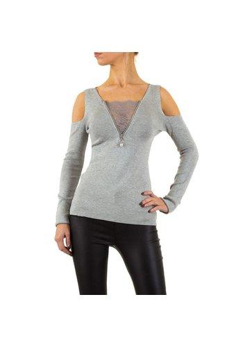 MOEWY Dames Sweater van Moewy Gr. een maat - grijs