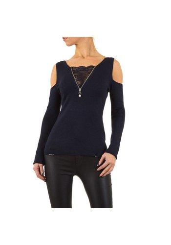MOEWY Damen Pullover von Moewy Gr. one size - DK.blue