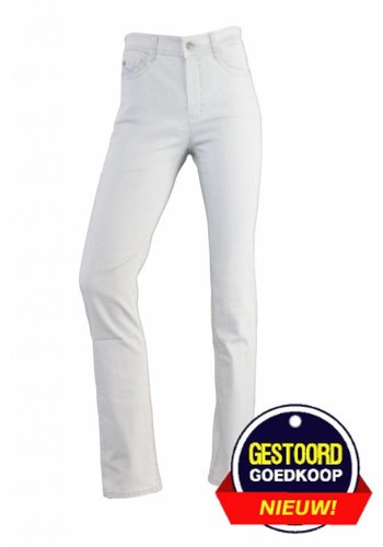 Neckermann Dames broek regular fit met stretch licht-grijs