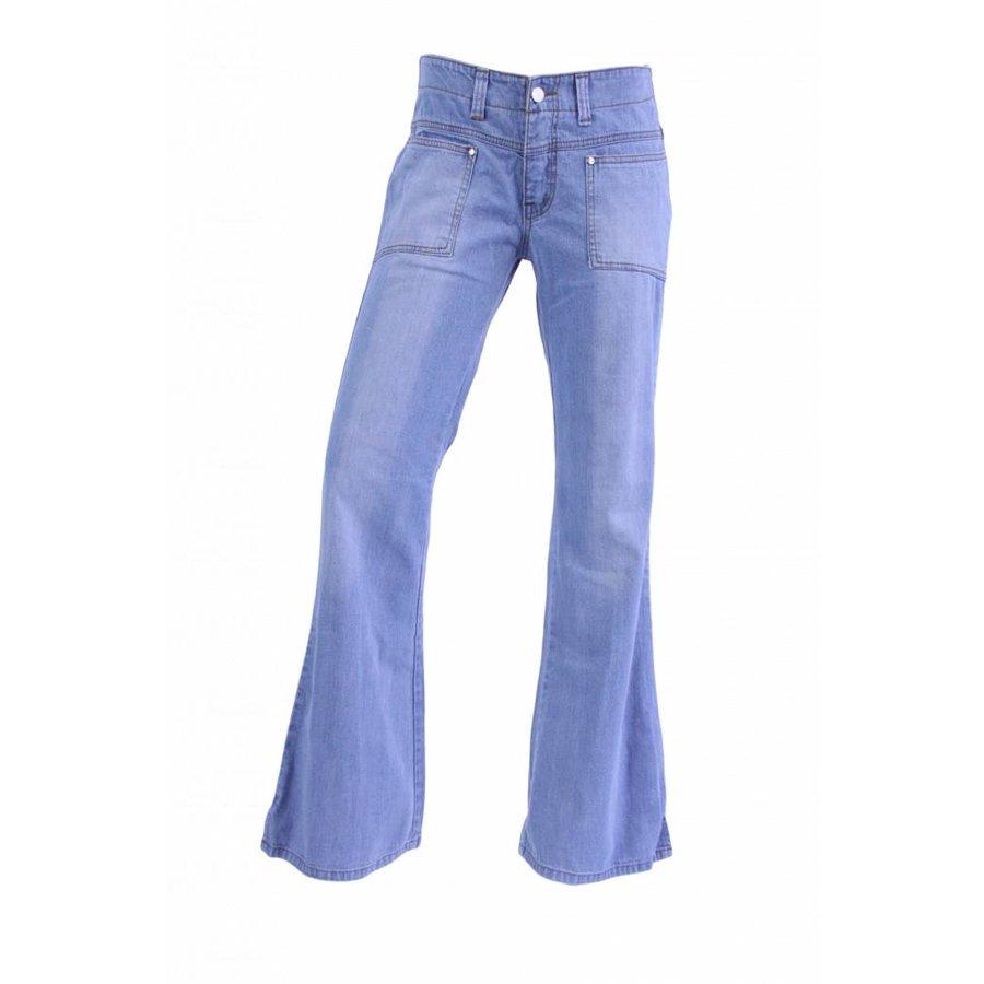 Pantalon évasé pour femme, délavé