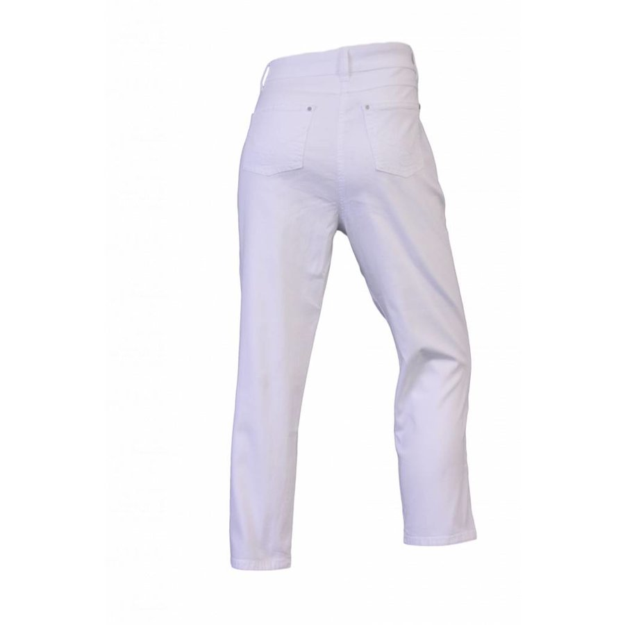 Dames broek regular fit met stretch wit