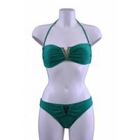 Bikini V-Bandeau grün