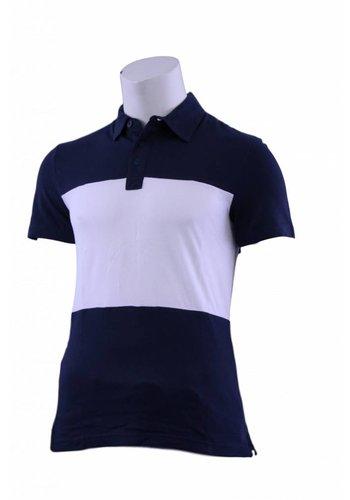 Celio Polo heren korte mouw blauw/wit