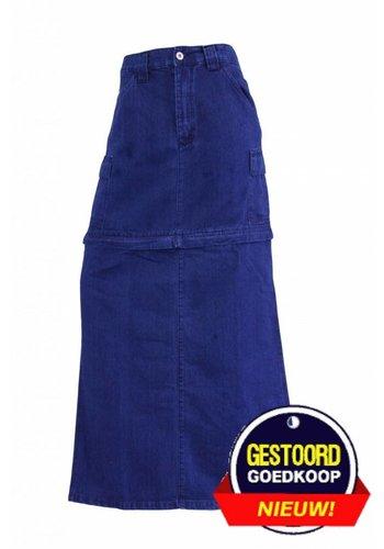 Neckermann Jupe longue en jean pour dames bleu foncé