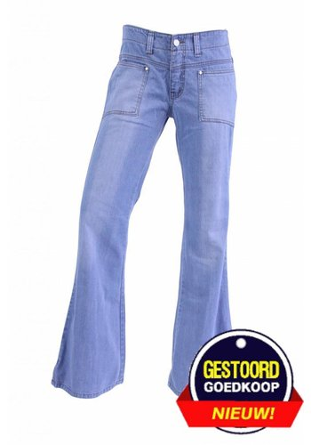 Neckermann Dames flared broek stone washed