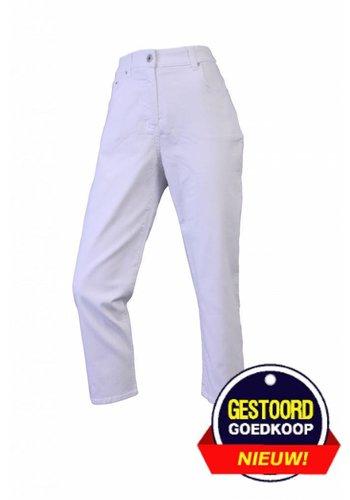 Neckermann Pantalon femme coupe classique blanc stretch