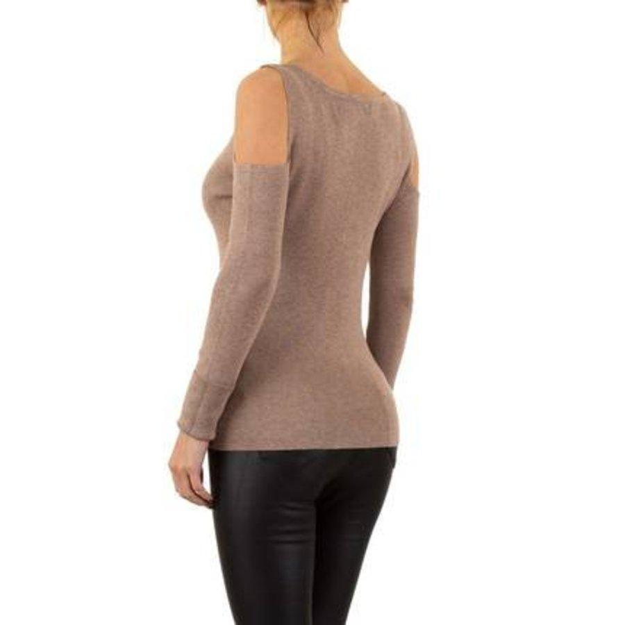 Damen Pullover von Moewy Gr. one size - taupe