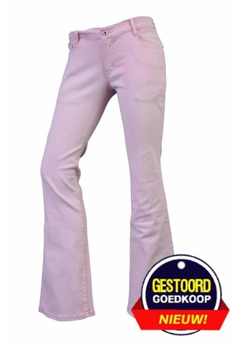 Neckermann Dames flared broek met stretch licht-roze