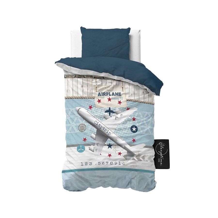 Dekbedovertrek Airplane 713 blauw