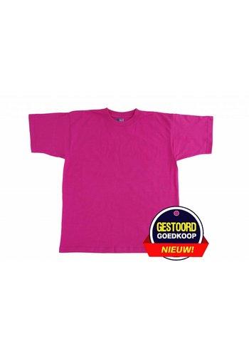 Neckermann T-shirt unisex voor kinderen fuchsia