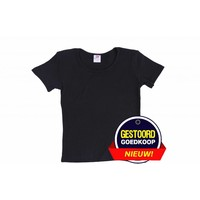 T-Shirt Mädchen / Damen schwarz für Kinder