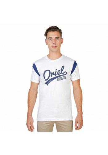 Oxford University Männer T-Shirt von der Universität Oxford ORIEL-VARSITY-MM weiß