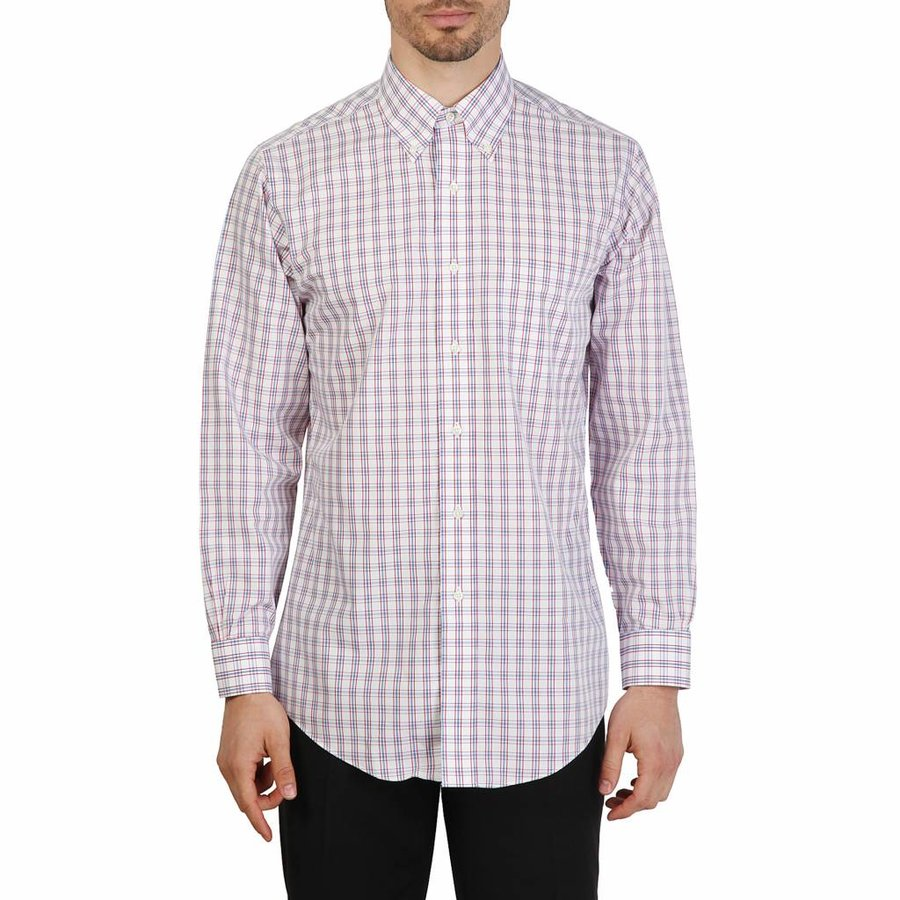 Heren Overhemd Rood.Brooks Brothers 100040433 Neckermann Com