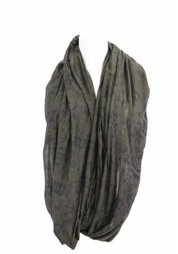 Clockhouse Dames sjaal tijgerprint mosgroen