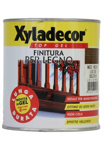 Xyladecor Top gel voor hout - glanzende walnoot - 750 ml