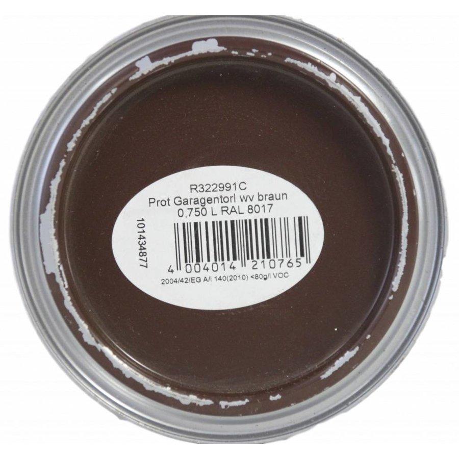 Garagentorlack satin, Farbe braun, 750ML