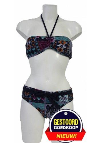 Neckermann Bandeau-Bikini mit orientalischem Motiv