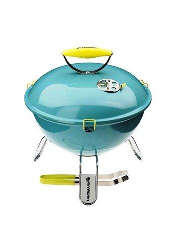 Landmann Barbecue à charbon - Piccolino - Turquoise - 34 cm