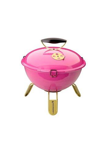 Landmann Houtskoolbarbecue - Piccolino - Roze - 34 cm