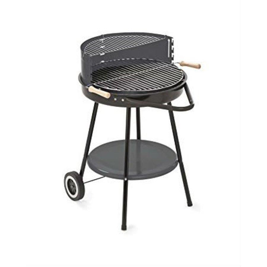 Houtskoolbarbecue met opzettafel - Diameter 48.5 cm
