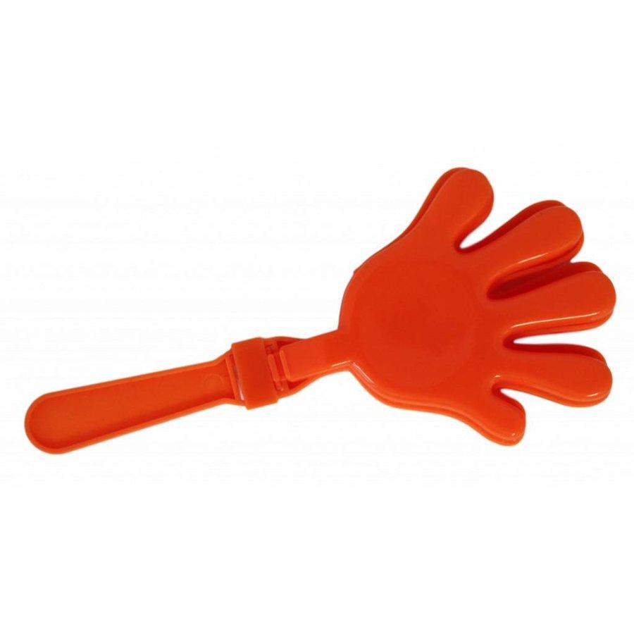 Orange Hände klatschen