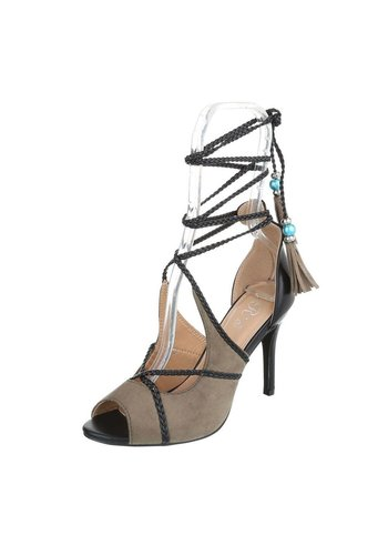 Neckermann Dames Peeptoe - kaki