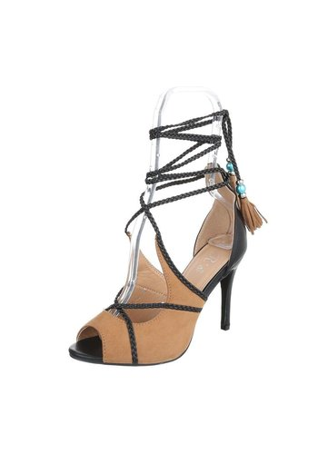 Neckermann Dames Peeptoe - camel