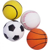 Sportballen van rubber - Ø 6,3 cm