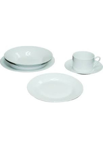 BestHome Servies set - 20 delig - Porselein - Rond - Wit