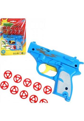 Neckermann Speelgoed pistool - 12 cm - 10 schoten