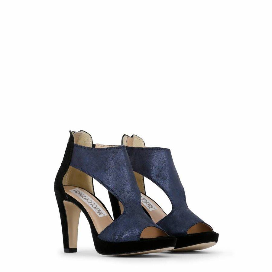 Dames Open schoen met hoge hak - zwart/blauw
