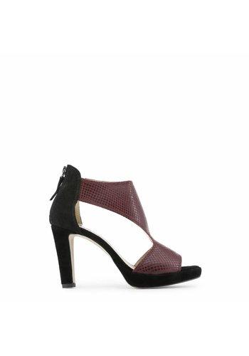 Arnaldo Toscani Dames Open schoen met hoge hak - zwart/rood
