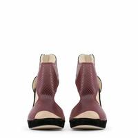 Damen Open Schuh mit hohem Absatz - schwarz / rot