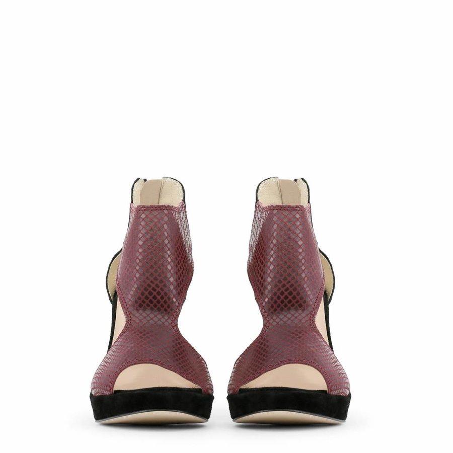 Dames Open schoen met hoge hak - zwart/rood