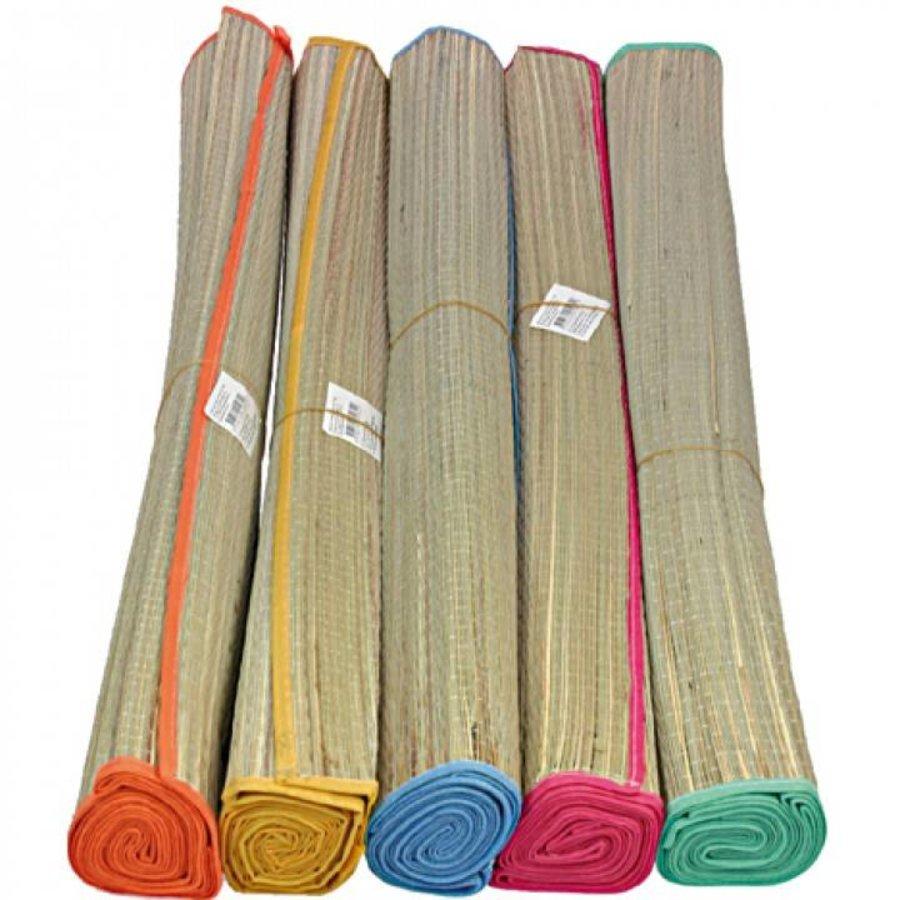 Rieten strandmat - 180x60 cm - in diverse kleuren