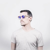 Unisex Sonnenbrille - braun