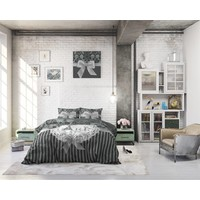 Dekbedovertrek - I Love Paris Silver